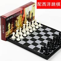 Шахматы магнитный высококачественный ребенок установите для взрослых большой размер сложить шахматная доска шахматы отдавать западный шашки