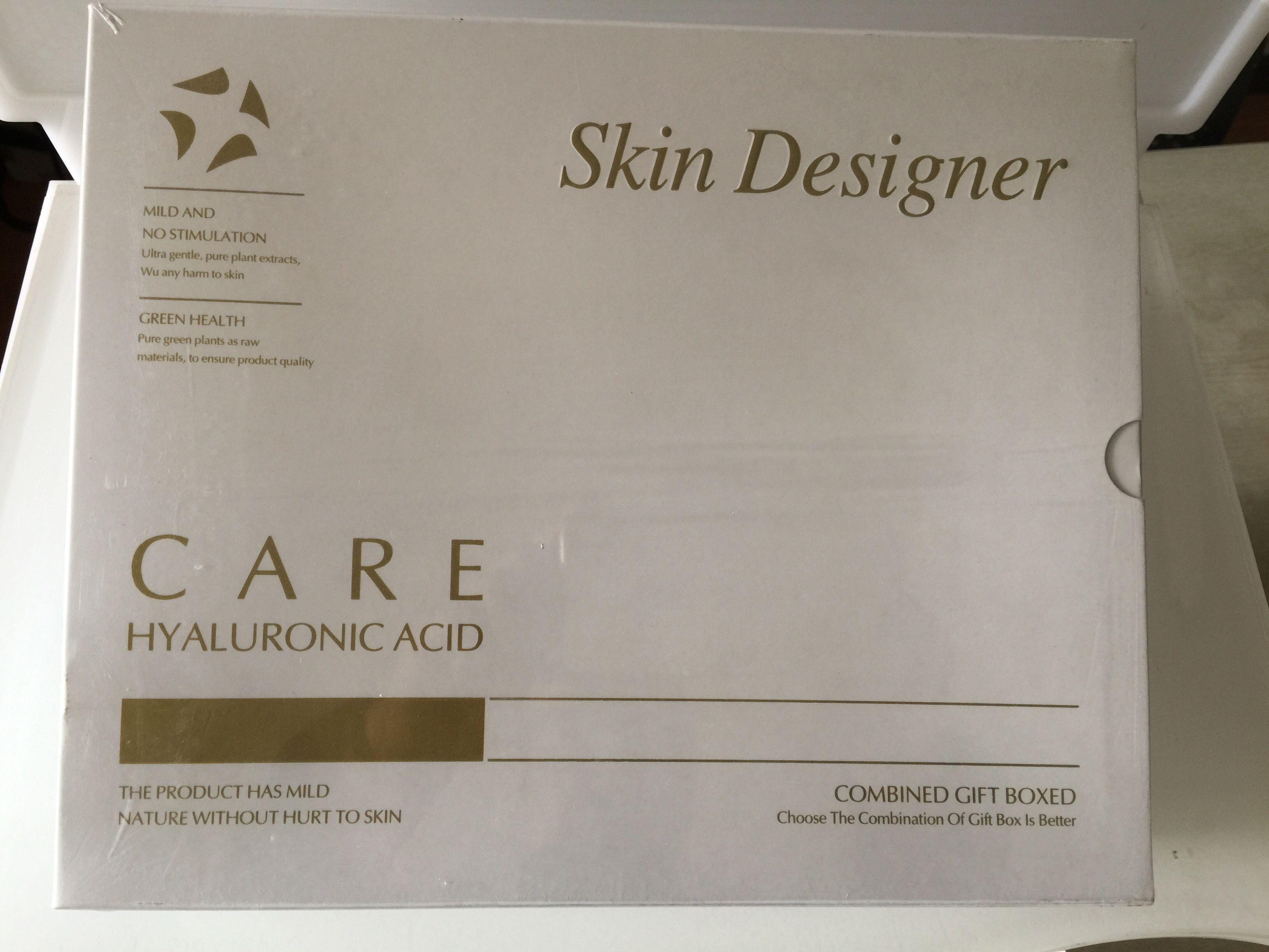 Skin designer facial essence plant repair serum HA hyaluronic acid raw liquid reduce sensitive moisturizing smear.