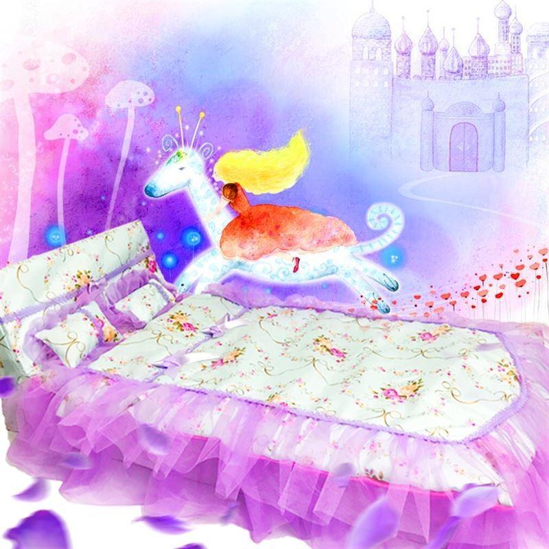 热销0件包邮叶罗丽仙子衣服房子夜娃娃睡衣的萝莉3分娃60卧室D家具床厘米 新