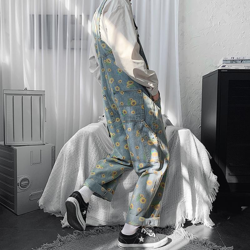背带裤ins男潮流韩版宽松直筒连体裤阔腿裤秋冬季513-3-LT02-P80