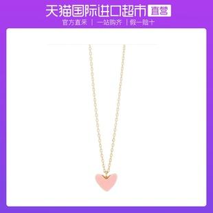 【直營】AHKAH小紅心項鍊18k黃金鎖骨鏈心形吊墜女情侶禮物