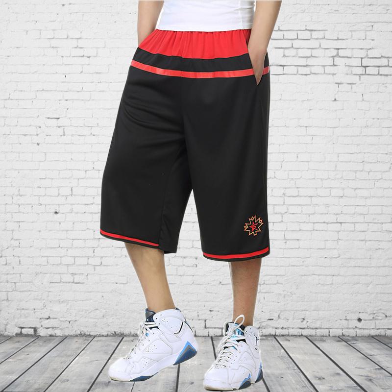 宽松运动裤短裤七分裤街头篮球裤沙滩健身加肥加大码男装肥佬中裤