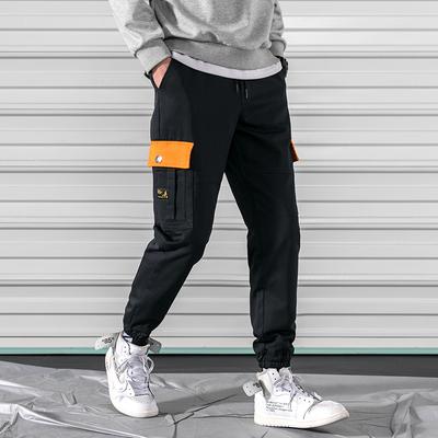春季新款裤子男韩版休闲宽松工装裤男士运动修身小脚长裤K187-P60