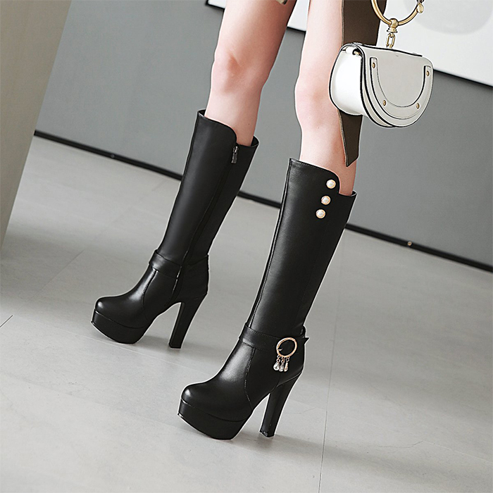 New womens shoes in autumn and winter of 2018 womens super high heel boots