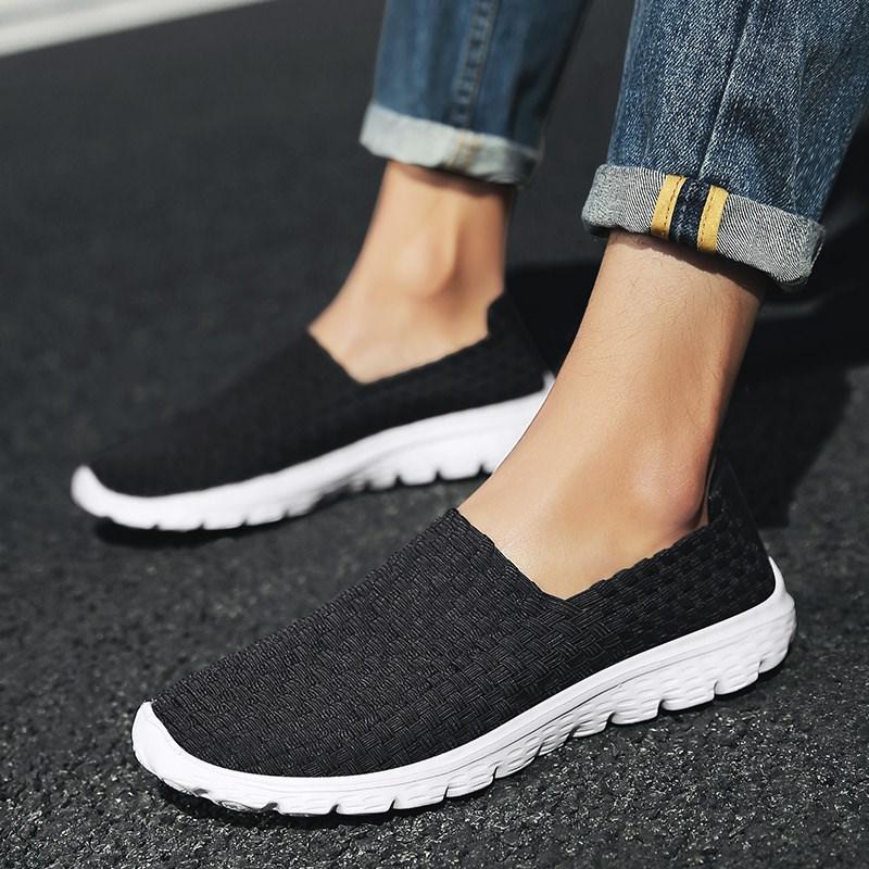 夏季男士户外防滑运动鞋纯手工编织鞋老北京布鞋轻便中老年男鞋子