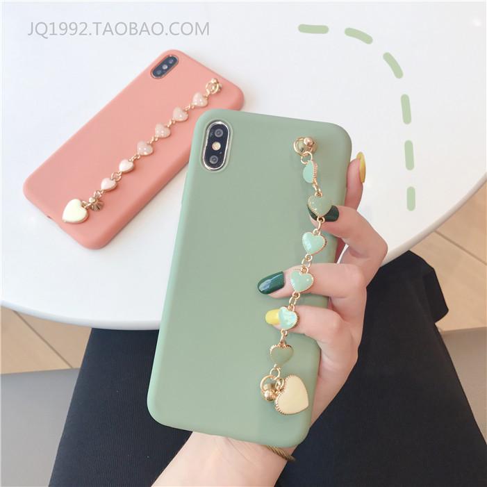 韩风oppoa59抹茶色爱心手链手机壳热销54件买三送一