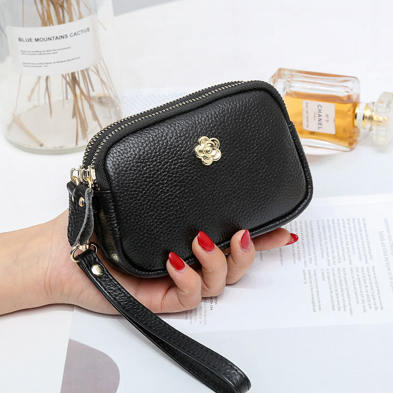 [optional delivery by Shunfeng] leather calfskin small wallet certificate card bag coin key bag drivers license small hand