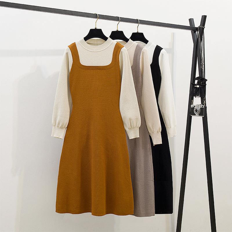 初秋装2019年新款早秋款高冷系女装气质成熟潮网红假两件套装冬季