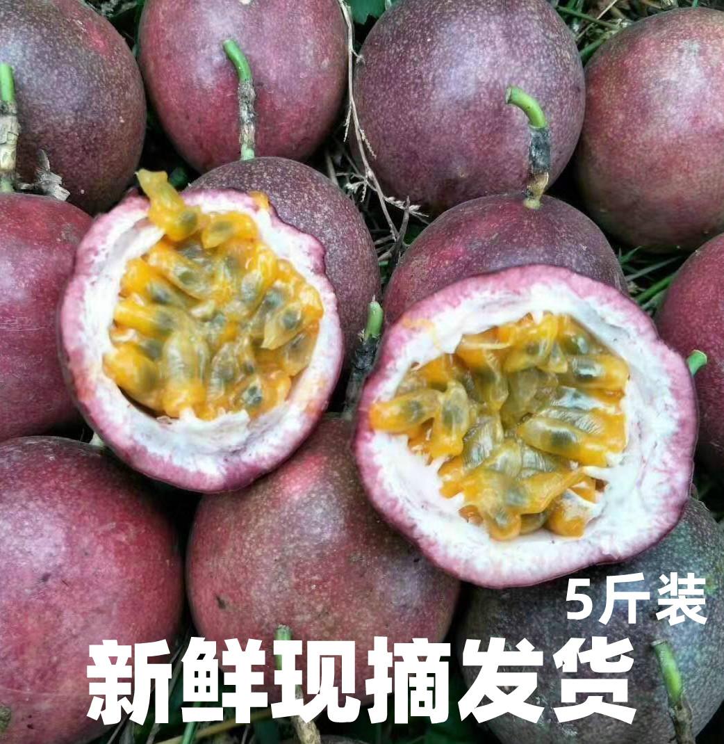 新鲜百香果5斤10斤紫香中大果挖果酱专用西潘莲产地直发百香果
