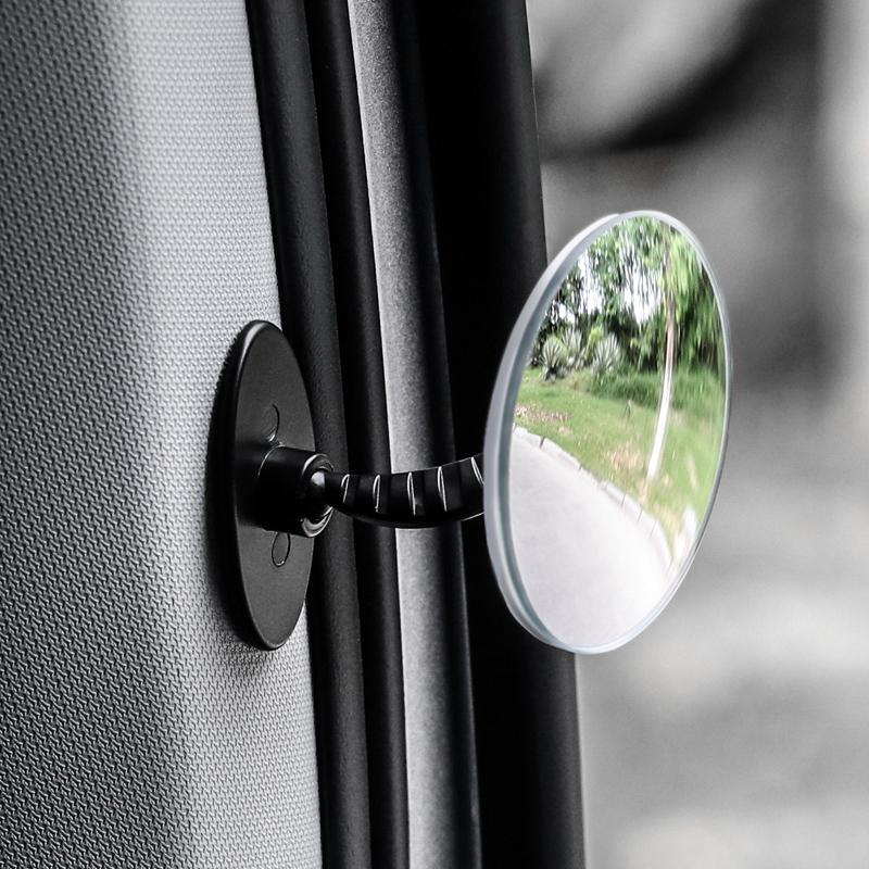 后排下车开门观察镜 倒车辅助小圆镜盲点镜后视镜 汽车安全小用品