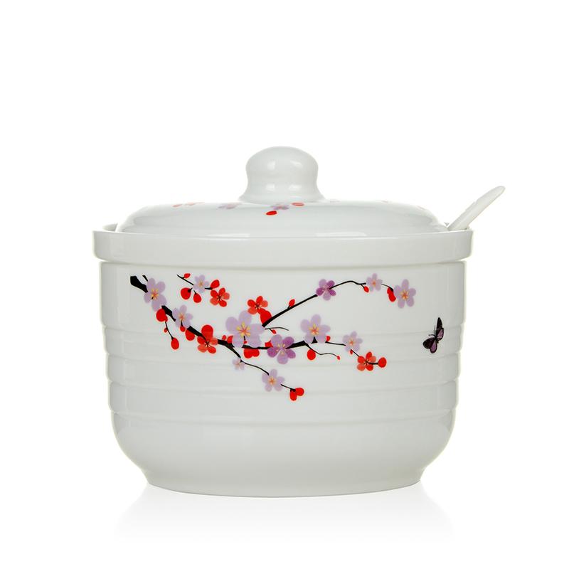 满38.00元可用20.1元优惠券乐活森陶瓷创意辣椒油猪油盐调料罐