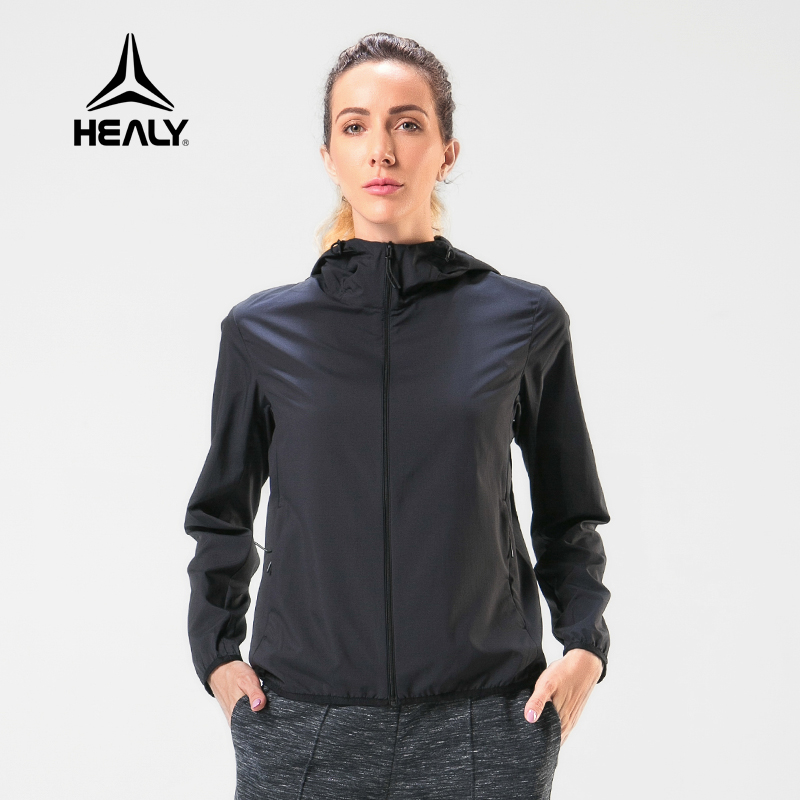 Healy Healy sports windbreaker womens outdoor running breathable fast dry long sleeve running training jacket casual coat