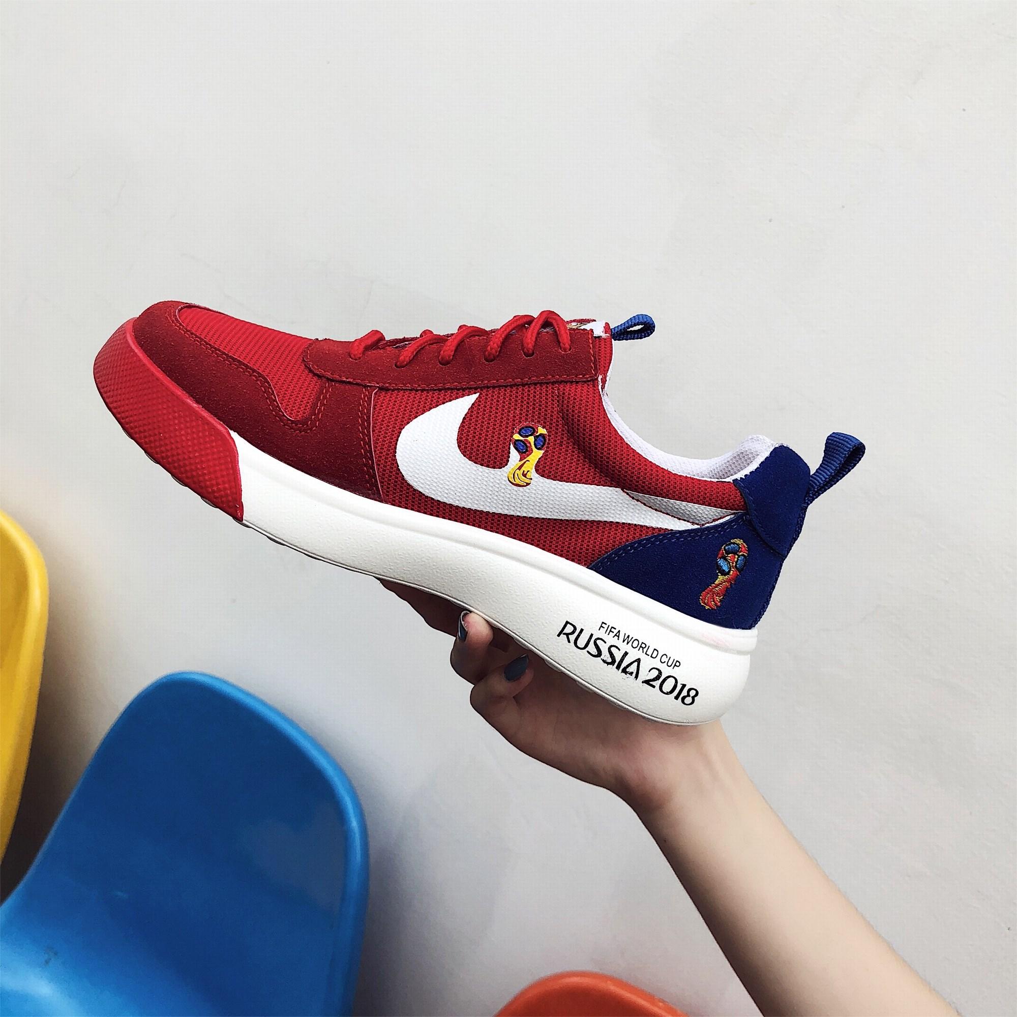 世界杯联名足球鞋新款跑步运动软底舒适运动鞋学生韩版圆头休闲鞋