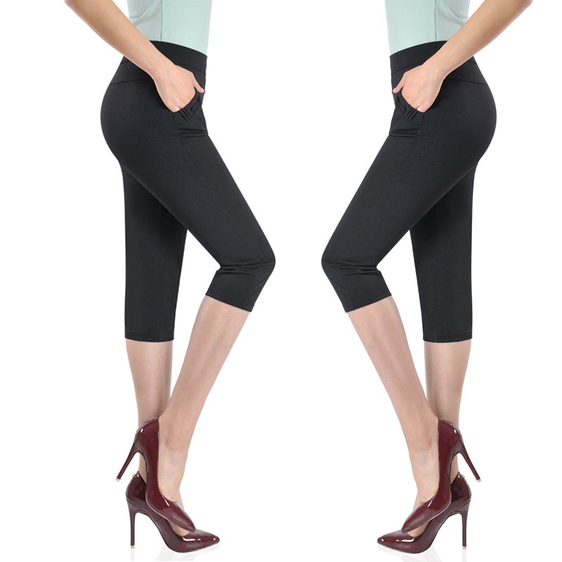 New style womens Pants Capris summer thin casual pants wear high waist loose thin mothers pants for middle-aged and old women