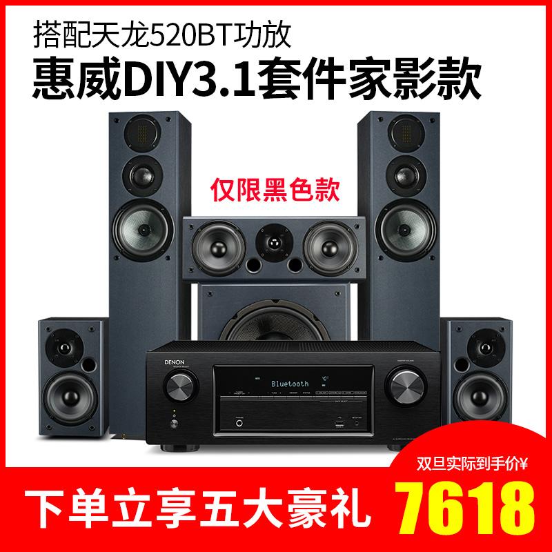 发烧家庭影院低音炮套装HIFI声道木质5.1套件音箱DIY3.1惠威Hivi