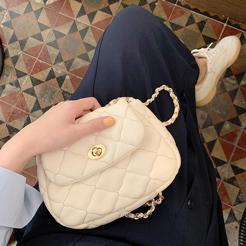 女包2020韩版新款时尚菱格链条包云朵包简约百搭ins单肩斜挎小包