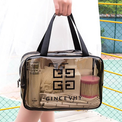 Travel wash bag waterproof transparent net red cosmetic bag small portable toiletry cosmetic storage bag female cosmetic bag