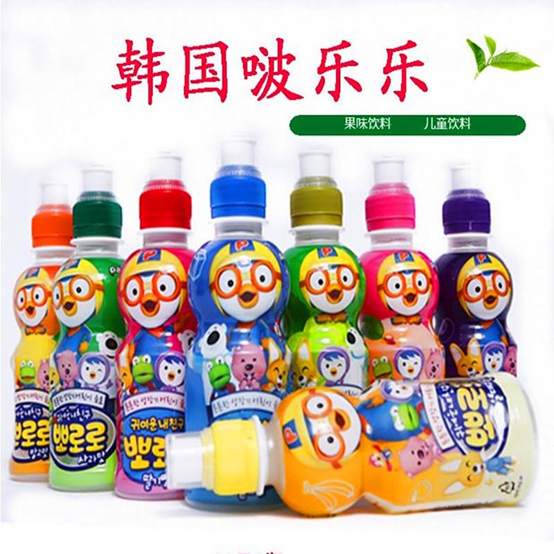 韩国进口饮料小企鹅宝露露啵乐乐果味儿童乳酸菌饮料整箱24瓶包邮