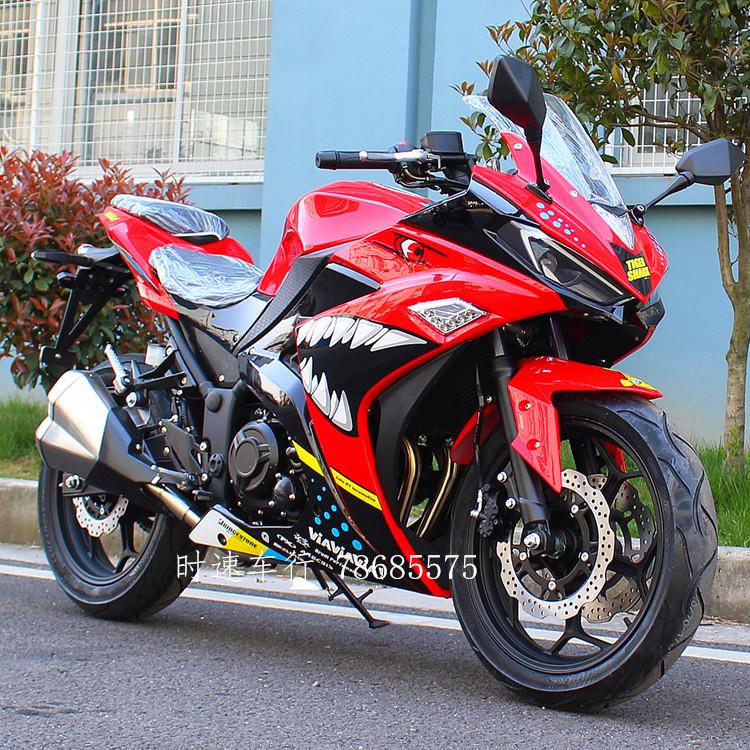 V6国四电喷R3摩托车跑车地平线水冷趴赛公路赛双缸可上牌重型机车