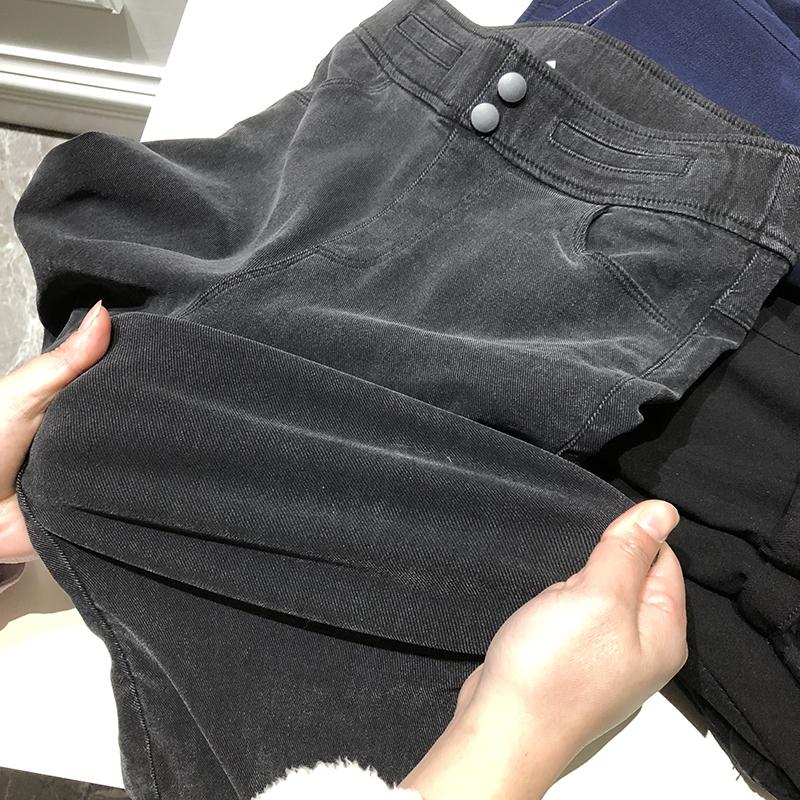 囤!好穿到哭啊!超弹加绒加厚莫代尔牛仔保暖修腿显瘦加绒小脚裤