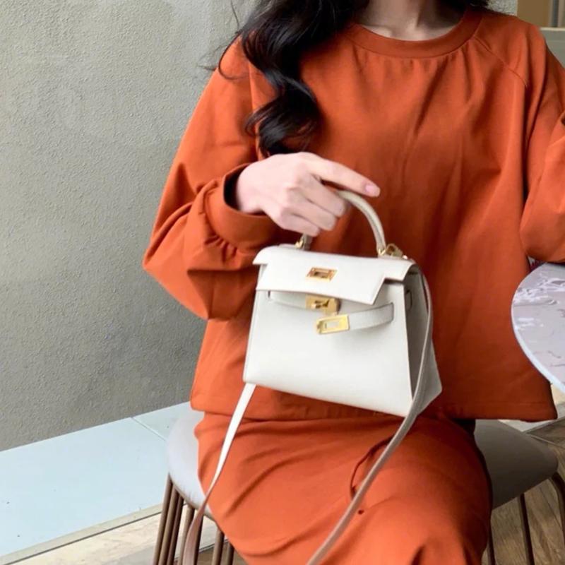 靓丽小ck女包2020新款潮真皮二代凯莉包mini包小包手提单肩斜挎包图片