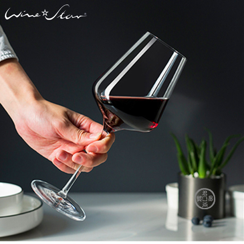 Imported lead free crystal red wine glass wine glass European style creative wine set champagne cup goblet set gift box