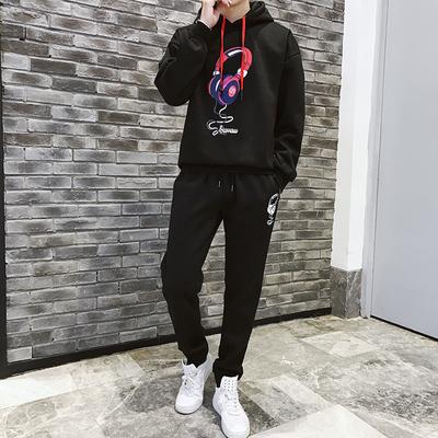 2019新款卫衣套装男外套春装衣服男装街头春季男士运动衣A205-P85