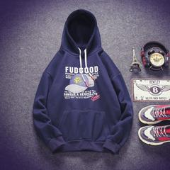 加绒卫衣男外套冬装潮流学生男生冬季保暖帅气上衣A165-A112-P60