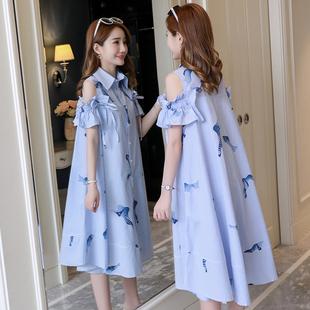 夏天裙子 孕妇夏装 款 2021新款 时尚 网红套装 孕妇春装 连衣裙上衣夏季
