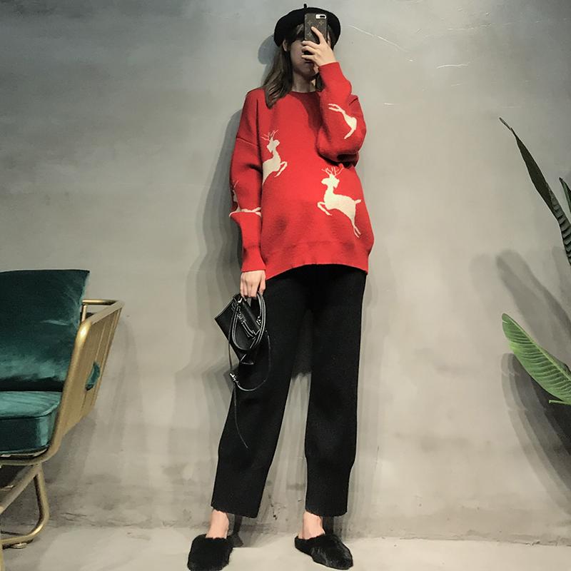 10月15日最新优惠孕妇装秋款套装网红款毛衣秋冬时尚针织哈伦裤秋装韩版洋气两件套