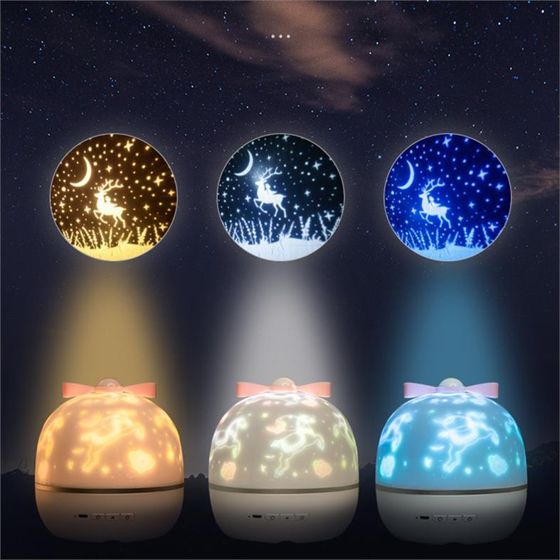 Dream Wish Magic Box projection lamp text student ocean moon sleep star night children bedside lamp sleeping lamp