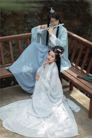 风采池 虎云亭 原创设计正品传统学生汉服三件套情侣男女CP款刺绣