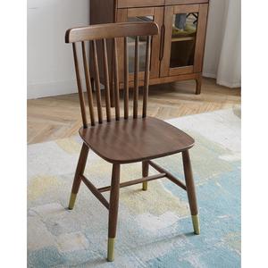 简约现代美式住宅家具复古酒店北欧日式纯全实木餐椅温莎椅