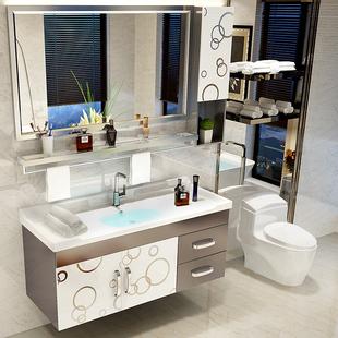 现代简约卫生间卫浴柜吊柜不锈钢浴室柜组合洗手洗脸盆柜洗漱台