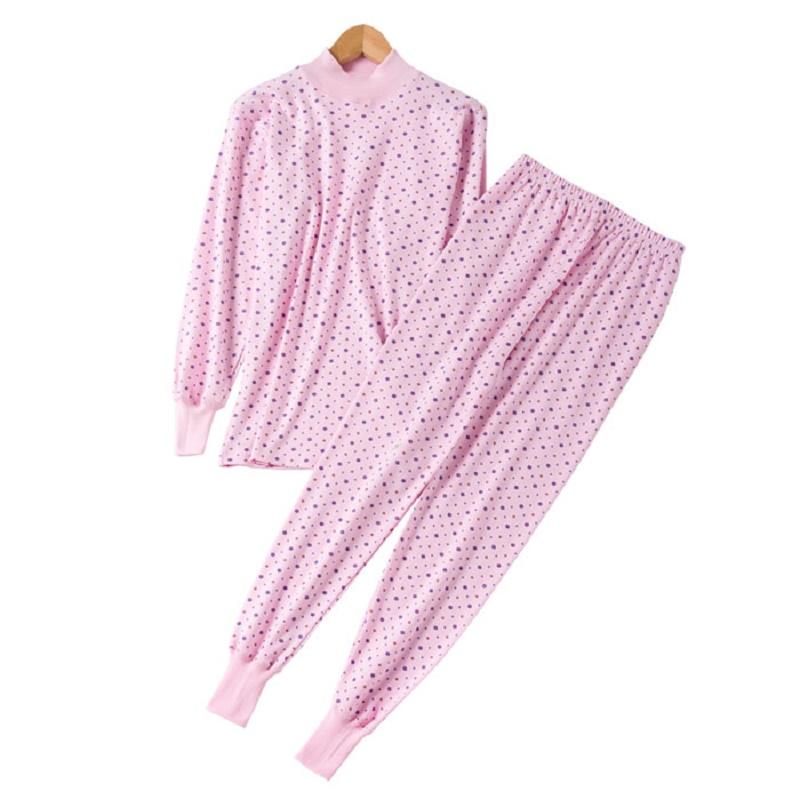 纯棉秋衣套装中老年棉毛衫加肥加大打底内衣