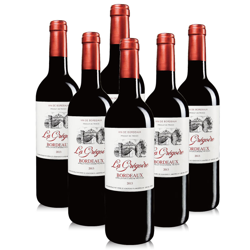 法国红酒 格格波尔多干红葡萄酒 原瓶原装进口红酒 AOC级