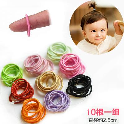 儿童发饰宝宝发圈小皮筋小孩扎头发皮筋韩国女童发绳不伤发橡皮筋