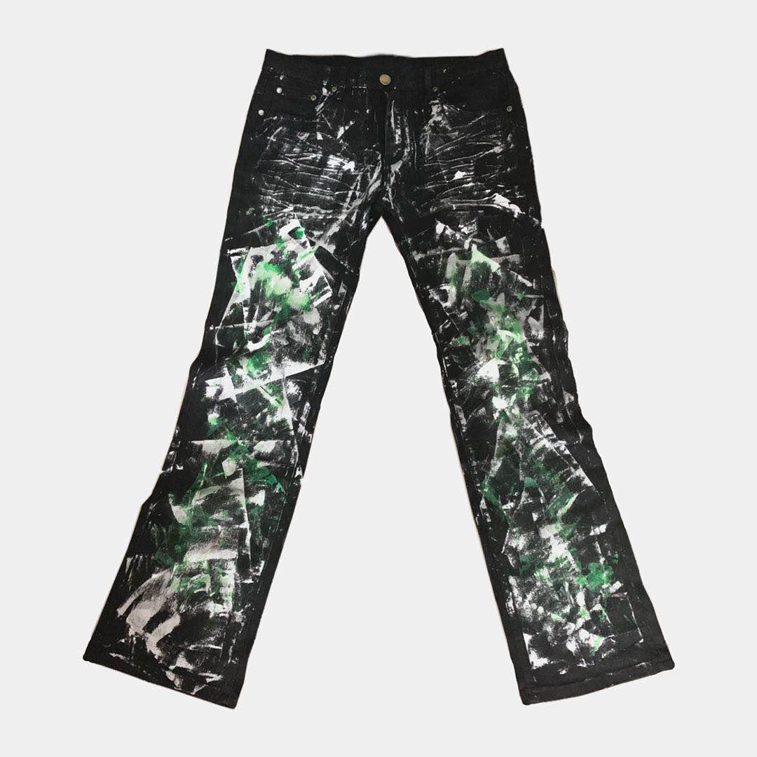 Deng Yunfengs slim slim slim micro flared draped jeans dual personality