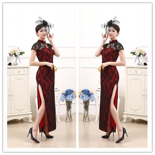 Sexy cheongsam night Shanghai dancer cheongsam night fragrance cheongsam Dance Dress elastic DS bar stage dress