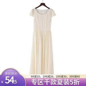 美短袖雪纺长裙夏季新款仙女裙子