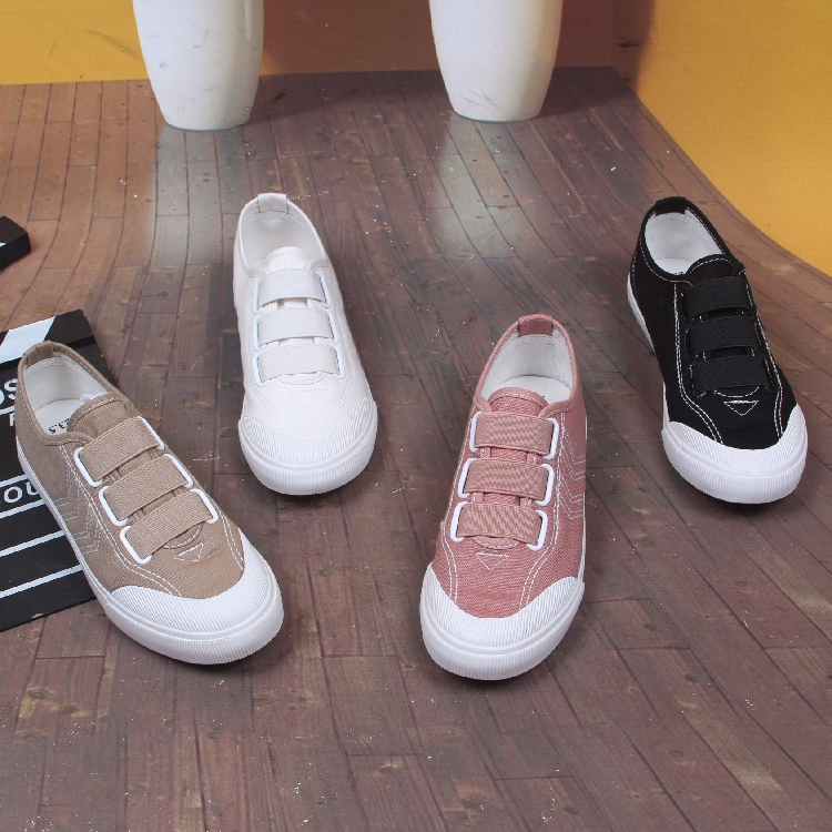 New spring and autumn Korean low top canvas womens shoes