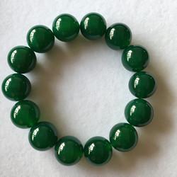天然绿玛瑙手链男女款情侣圆珠佛珠女生玉髓手串10-16mm妈妈礼物