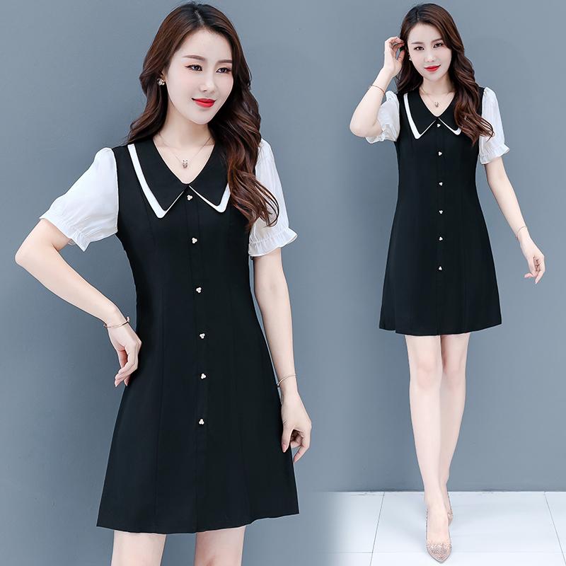 小晚禮服裙女士2020夏裝韓版名媛赫本風小個子顯瘦雪紡法式連衣裙