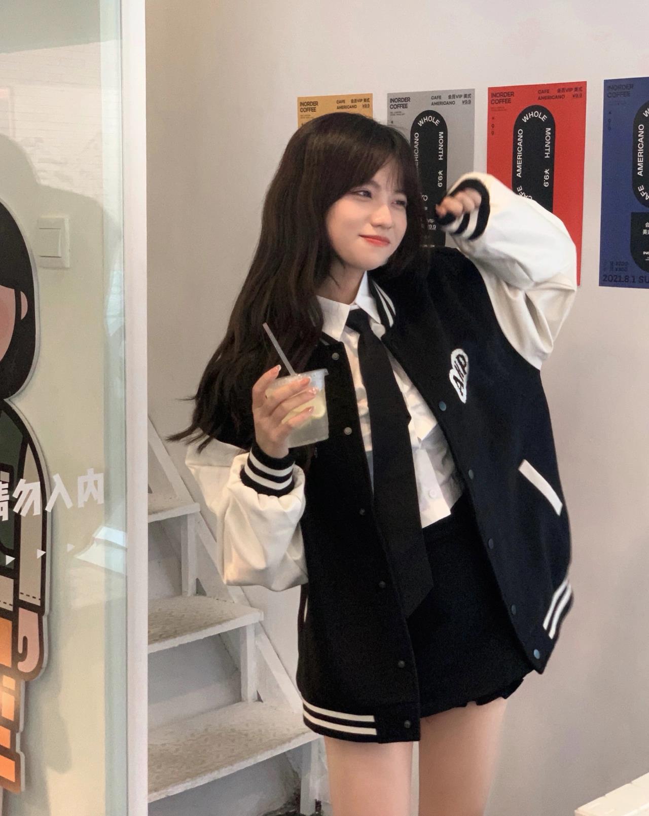 外套女2021年秋冬季新款夾克學院風棒球服