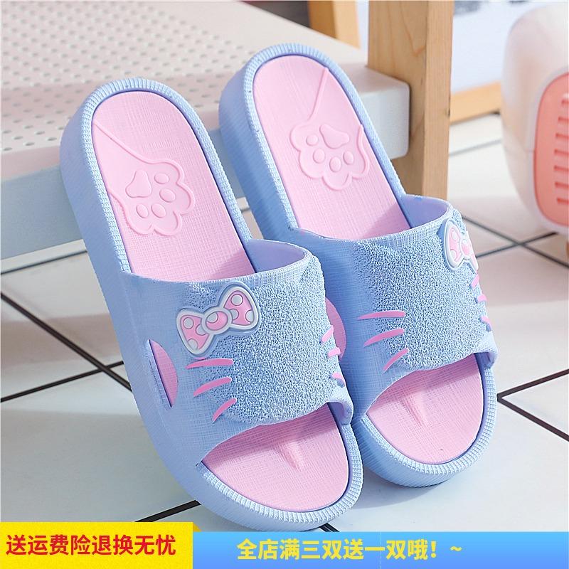 夏外穿平底鞋海边一字拖沙滩鞋子
