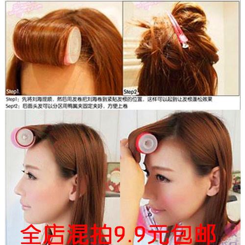 Корейский Принадлежность для волос двойного назначения не повреждает самоклеящиеся двухслойный Бигуди для волос большие кудрявые волосы автоматическая Кудрявый артефакт волос