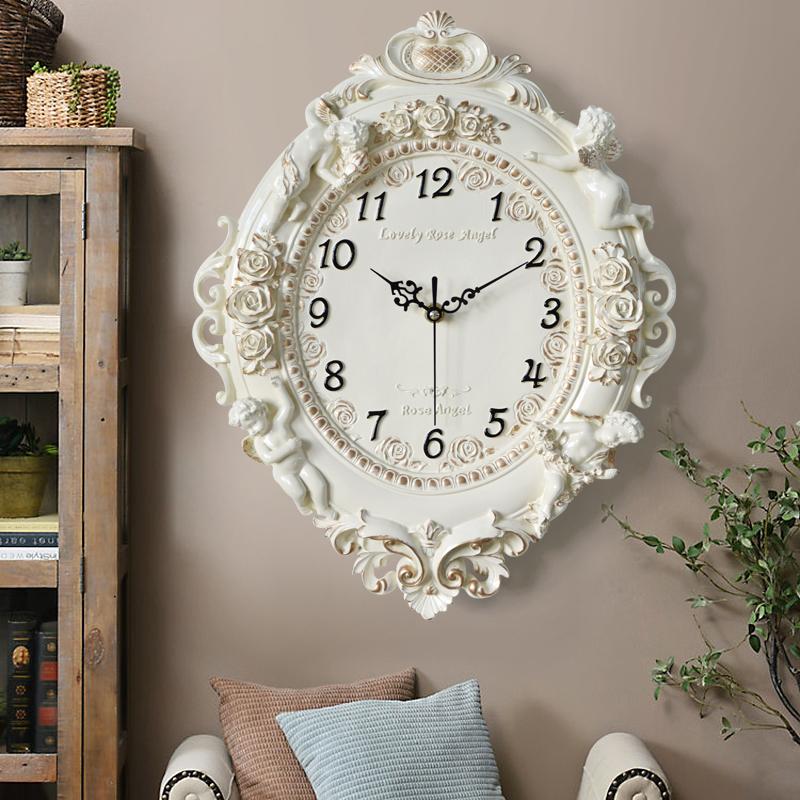 欧式钟表挂钟客厅个性创意装饰挂表静音石英钟卧室大气家用时钟 Изображение 1