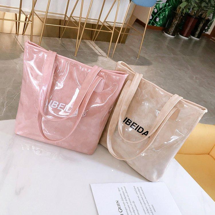 防水包包女2019新款水晶果冻包pvc塑料女包冬季百搭大容量单肩包券后37.00元