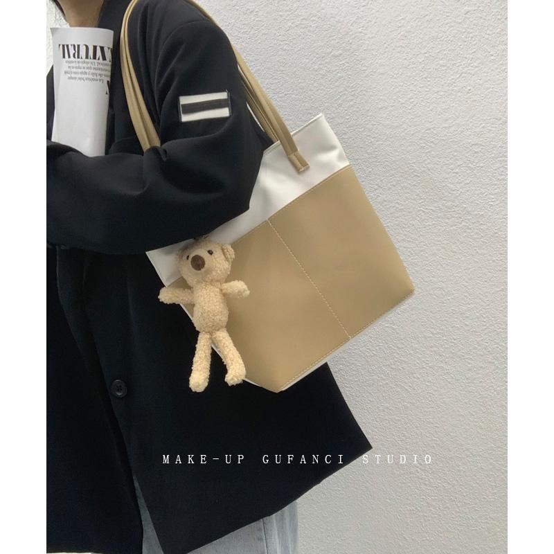 大容量包包女包2021新款潮韩版百搭时尚单肩包通勤女包手提托特包