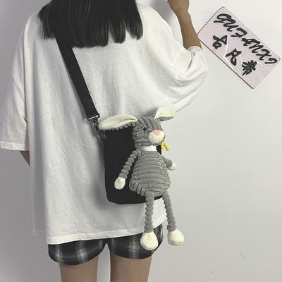 丑萌小包包女包2019新款潮韩版斜挎包个性可爱少女搞怪卡通帆布包